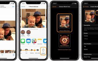 Apple Watch: как установить фото как циферблат