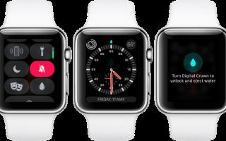 Apple Watch: как включить режим блокировки воды