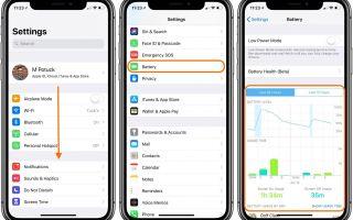 iPhone: как использовать расширенную статистику батареи в iOS 12