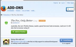 Расширяемая адресная строка в Mozilla Firefox