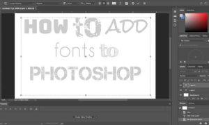 Как добавить шрифты в Photoshop, от Typekit до загрузки шрифтов