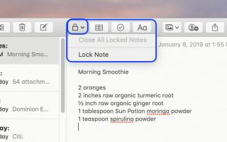 Как заблокировать заметки на Mac