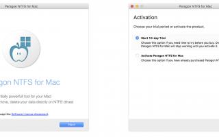 Как получить доступ / записывать на диски NTFS на Mac изначально с Paragon NTFS 14