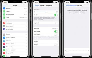 Как настроить размер текста и включить жирный текст на iPhone, iPad или Apple Watch