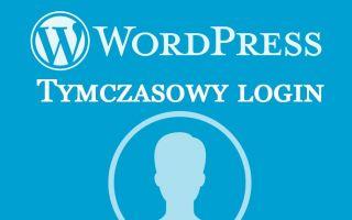 Как создать временный вход в WordPress
