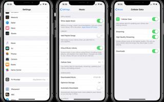Как включить высококачественную потоковую передачу в Apple Music через сотовую связь