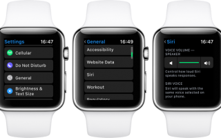 watchOS 5: Как настроить громкость голоса Siri