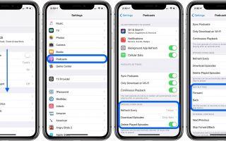 iPhone и iPad: как настроить параметры приложения Podcasts