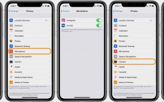 Как проверить, какие приложения имеют доступ к камере и микрофону вашего iPhone