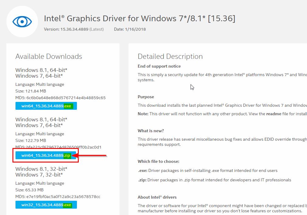 Загрузить драйверы Intel Graphics