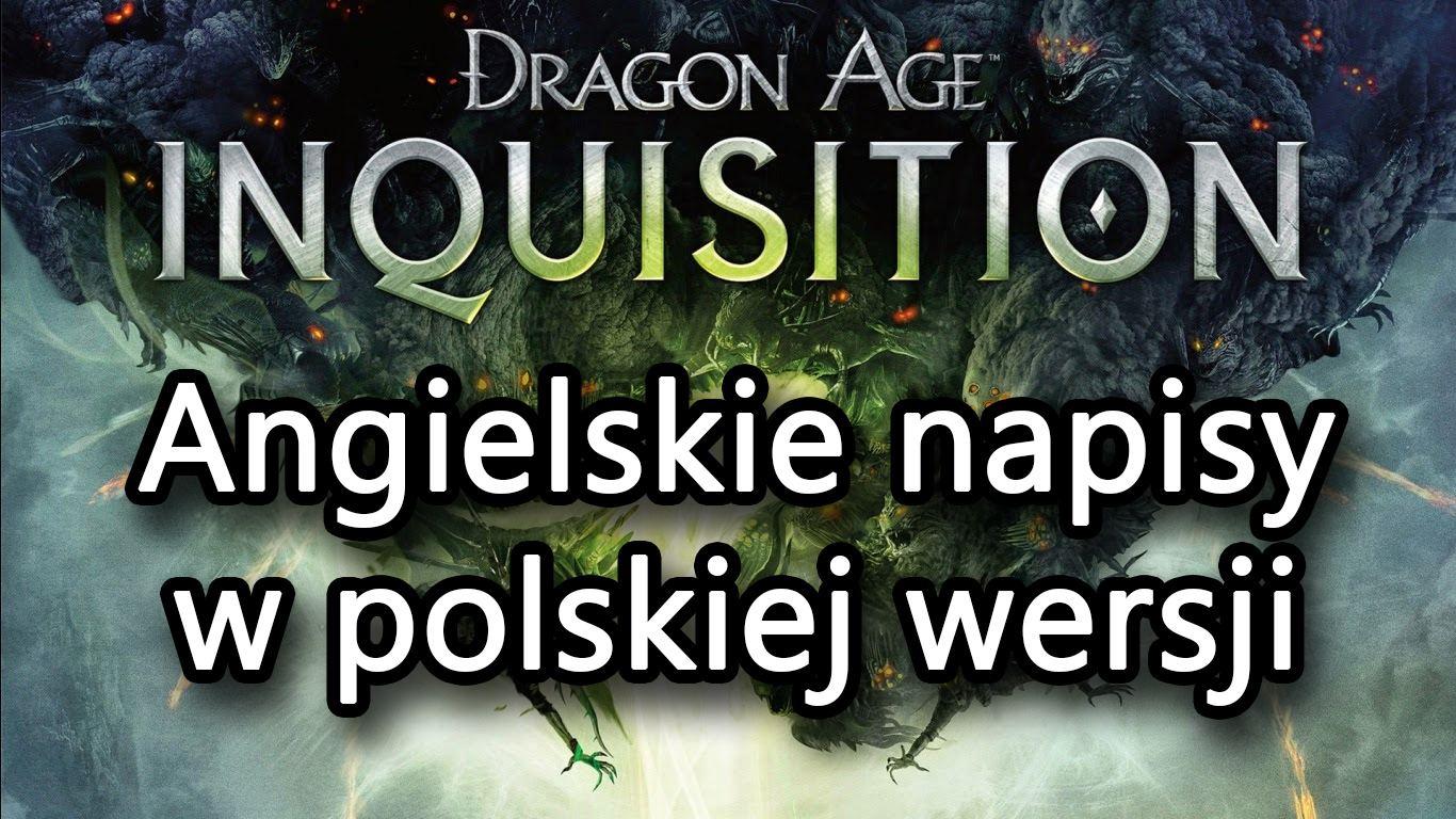 Dragon Age Inquisition - как включить английские субтитры