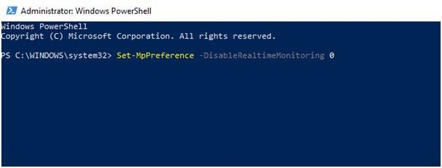 Администратор Windows Power Shell