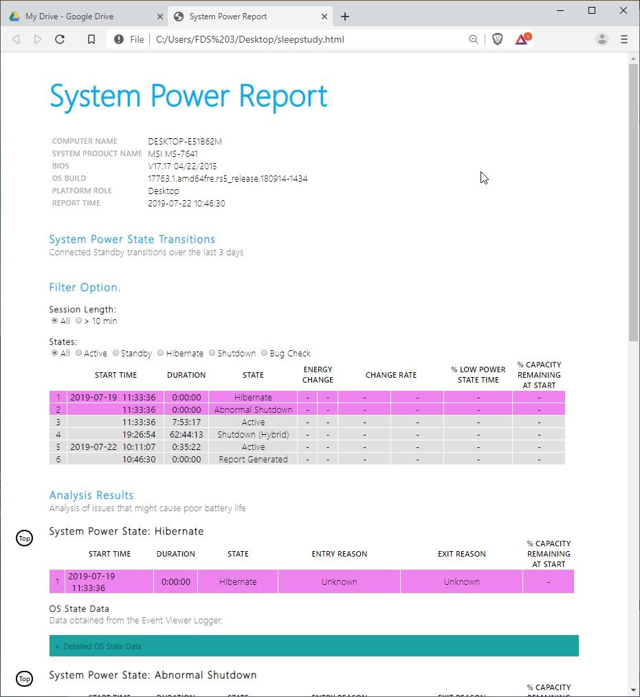 System_Power_Report