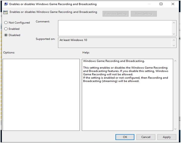 Enable_Disable_Game Recording