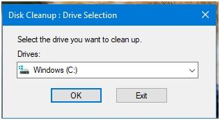 Diskcleanup_Drive_Selection