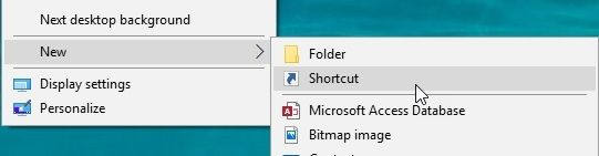 create_new_shortcut